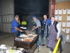 The East Geelong Rotary Club cooking up a feast for the hungry Bartlett's crew